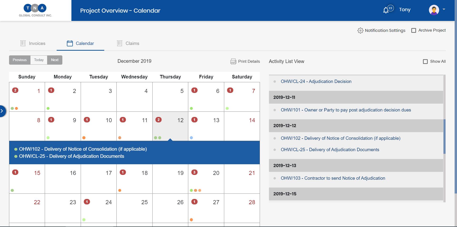 PPA Tracker Software - Track Deadlines